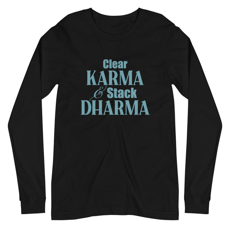 Clear Karma Stack Dharma - Women's Long Sleeve Tee - StarSeed Gear