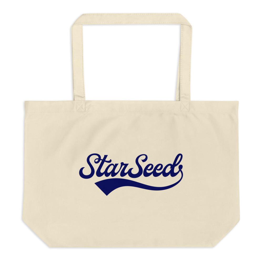 StarSeed Vintage Navy - Large Organic Twill Tote Bag - StarSeed Gear