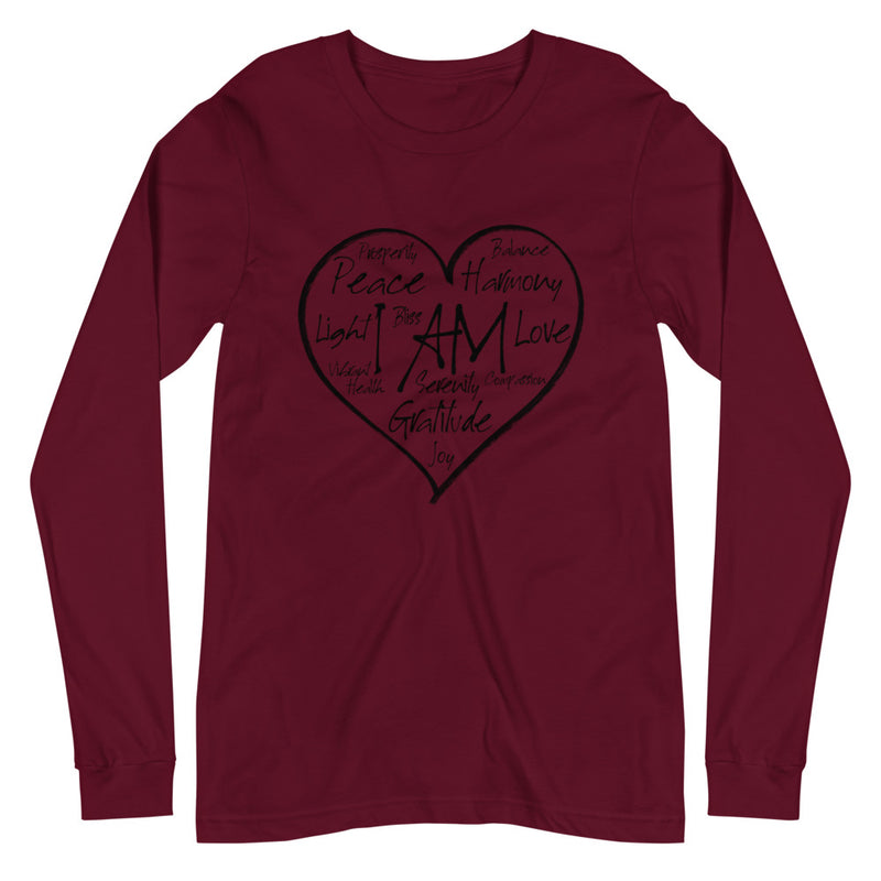 I AM Heart - Women's Soft Long Sleeve Tee - StarSeed Gear