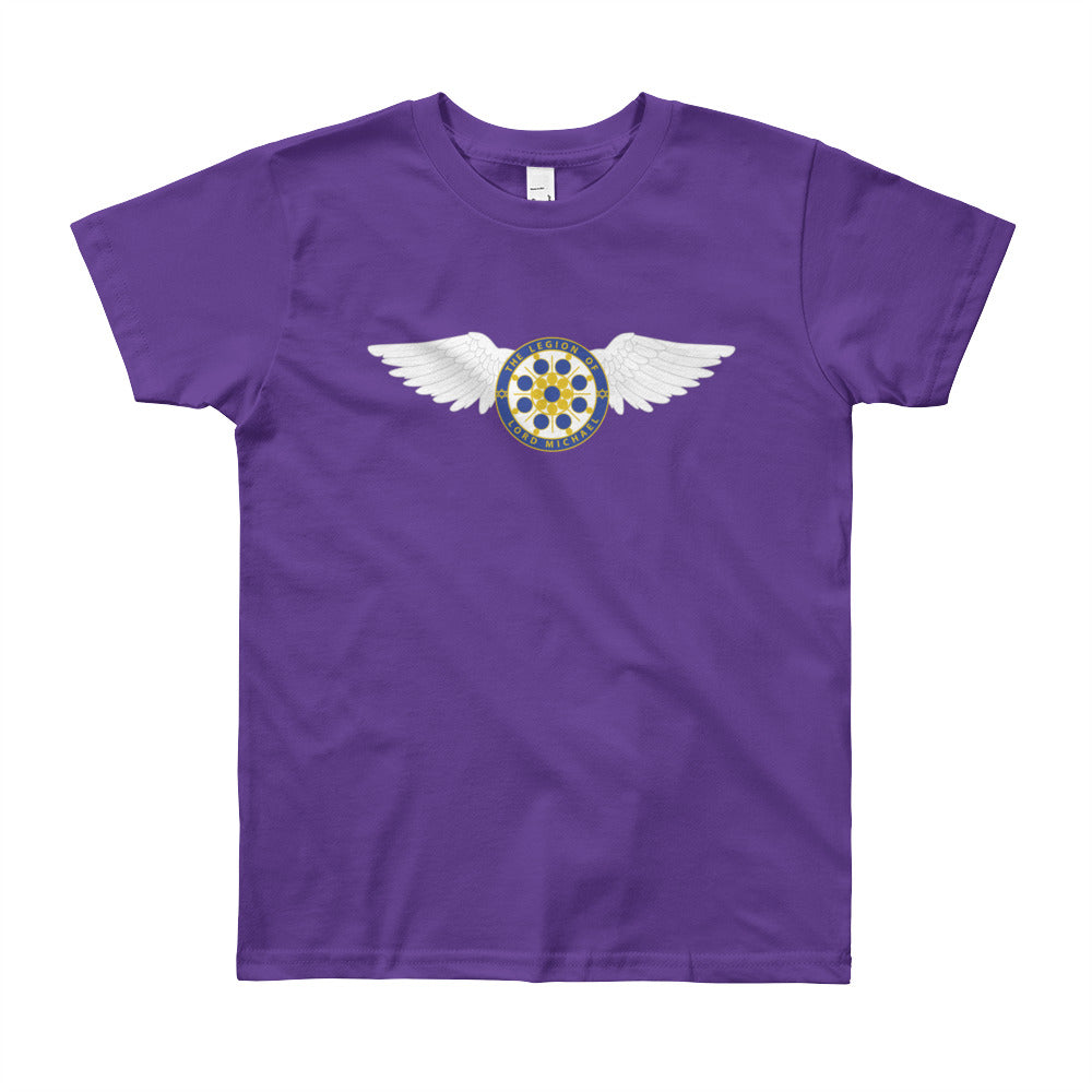 Archangel Michael Seal with Wings - Youth Tee - StarSeed Gear