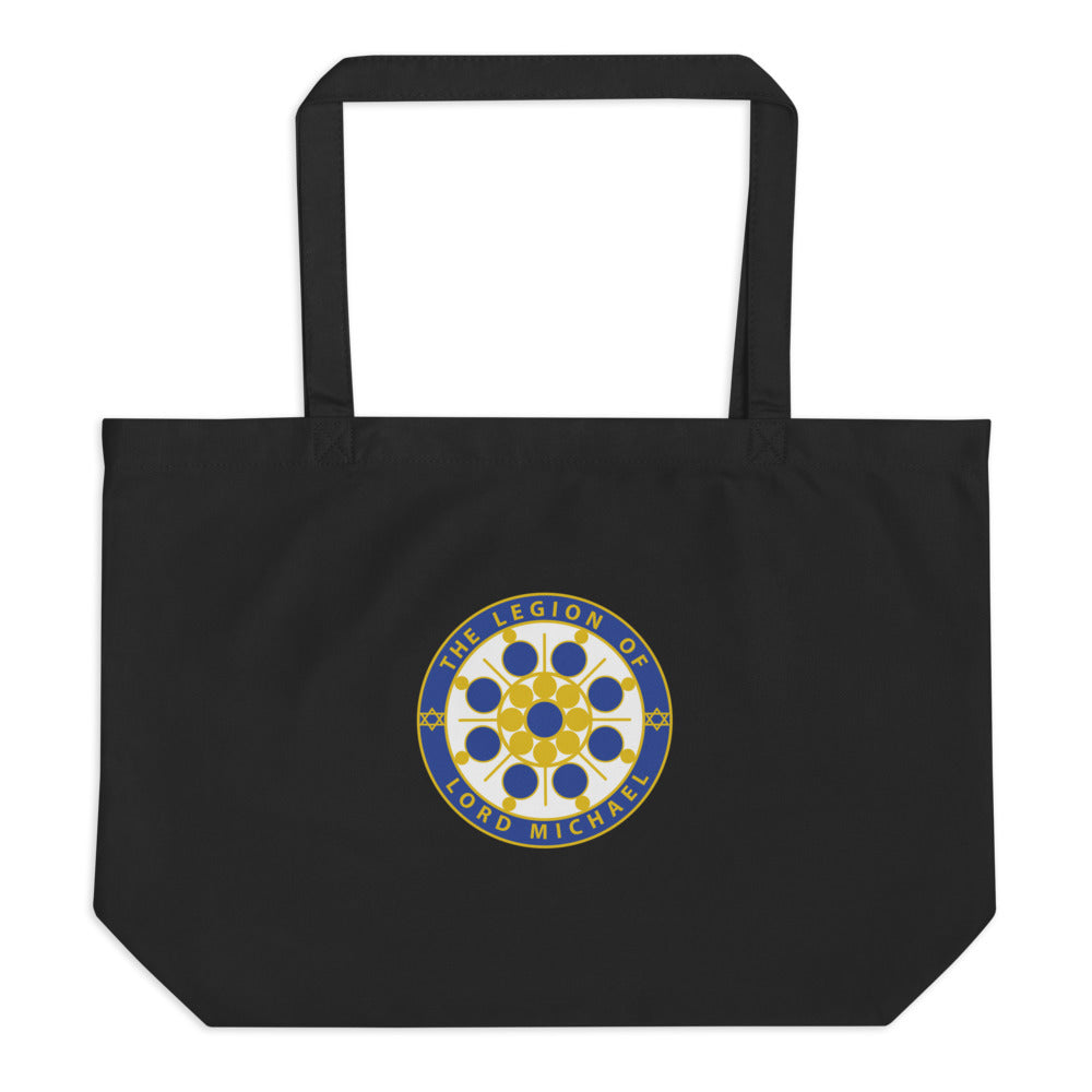 Archangel Michael Seal - Large Organic Twill Tote Bag - StarSeed Gear
