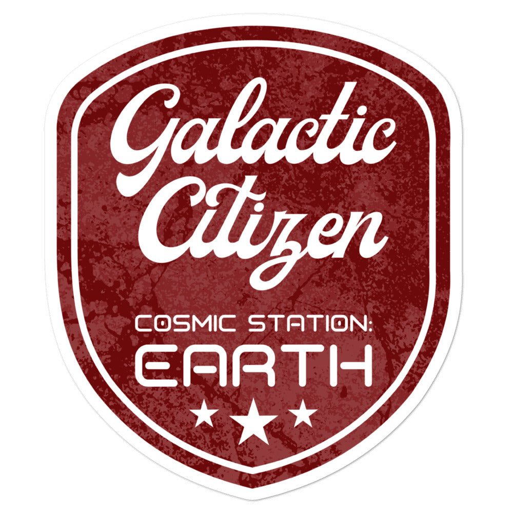 Galactic Citizen - 3x3 and 5.5x5.5inch Bubble-Free Stickers - StarSeed Gear