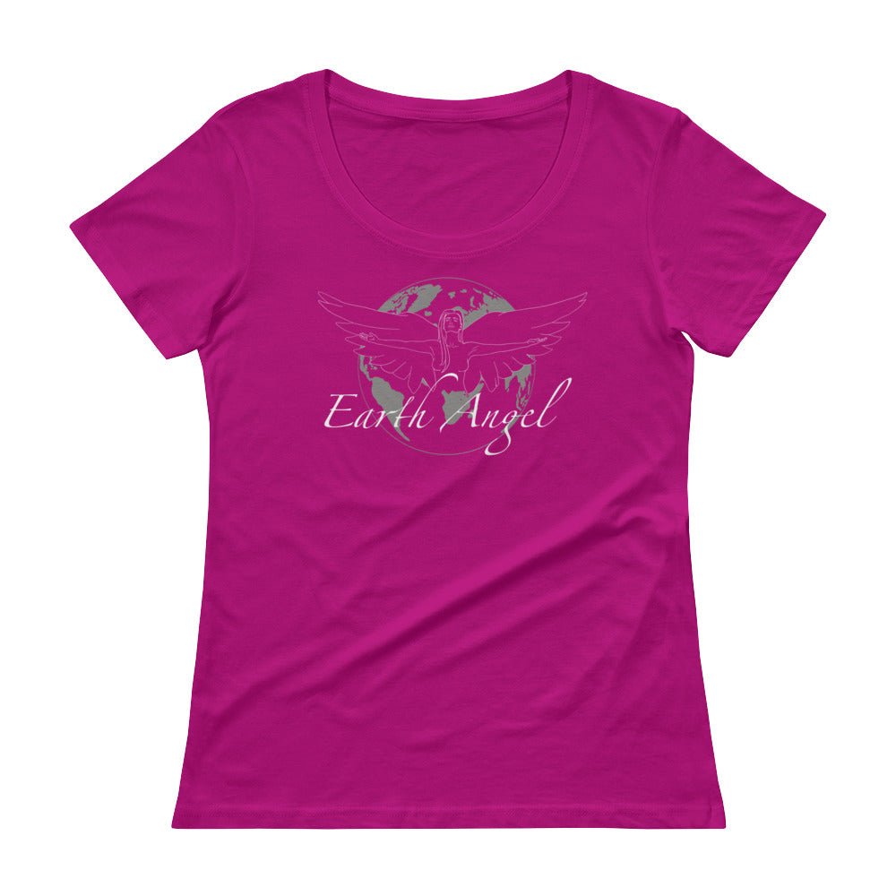 Earth Angel Feminine Light - Women's Scoop Neck Tee - StarSeed Gear