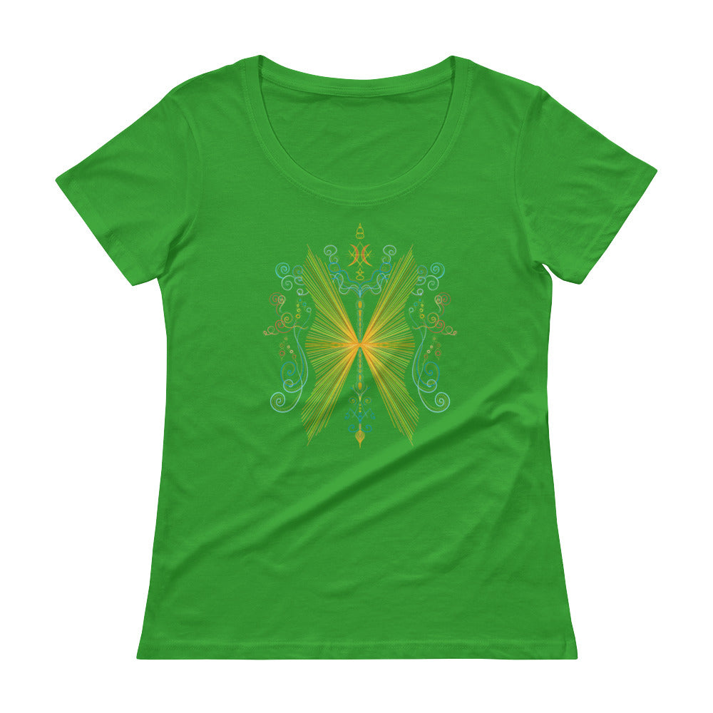 Butterfly Effect - Women's Scoop Neck Tee - StarSeed Gear