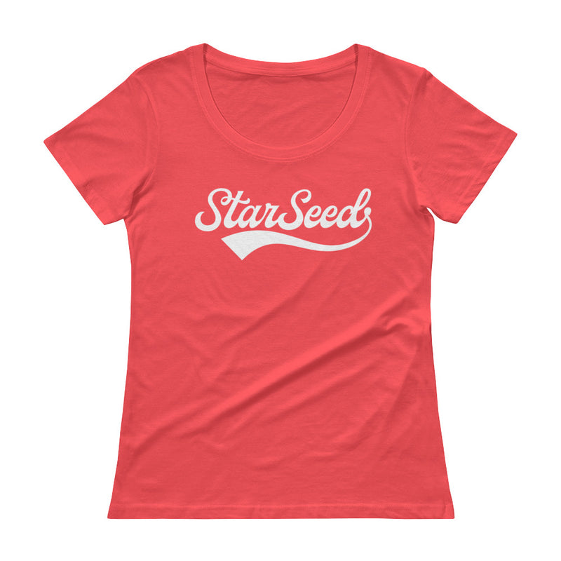 StarSeed Vintage White - Women's Scoop Neck Tee - StarSeed Gear