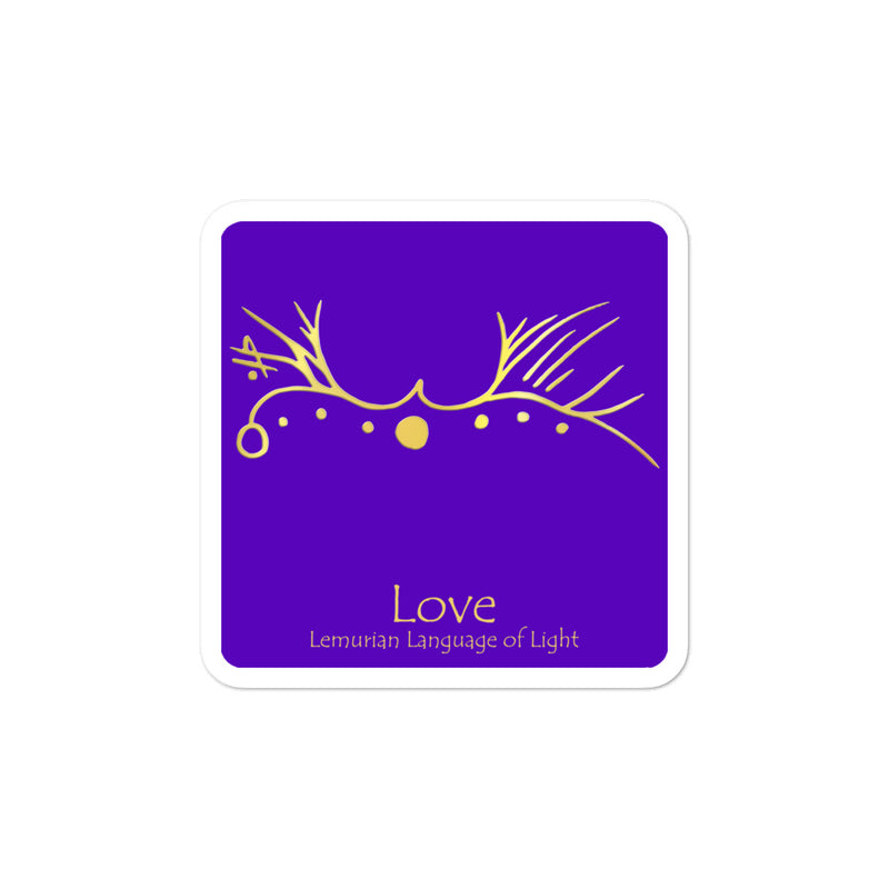 Lemurian Light Language Love Purple - 3 X 3 inch Bubble-Free Sticker - StarSeed Gear