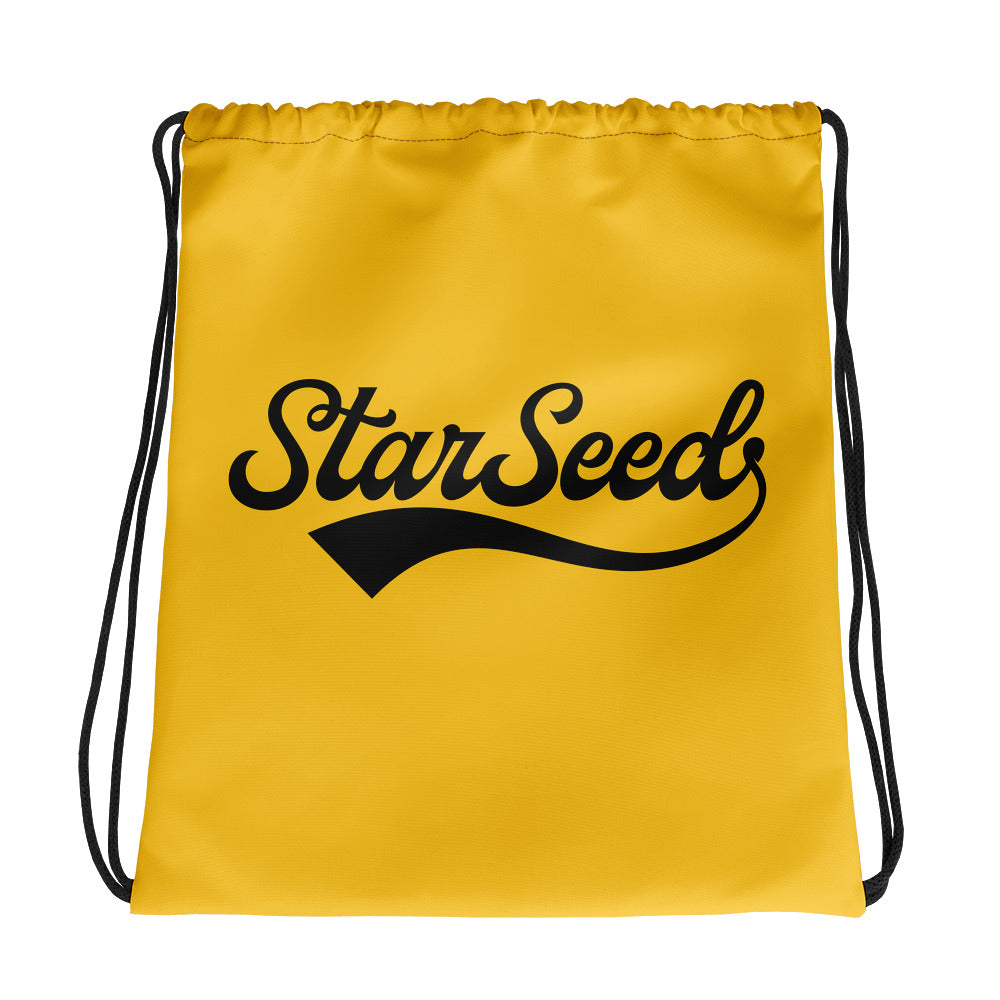 StarSeed Vintage Yellow-Black - Drawstring Bag - StarSeed Gear