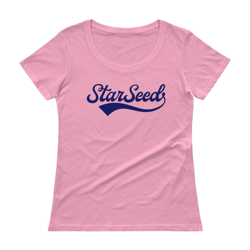 StarSeed Vintage Navy - Women's Scoop Neck Tee - StarSeed Gear