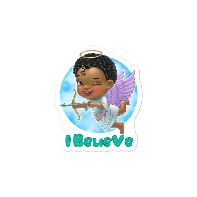 Angels I Believe - 3x3 and 5.5x5.5inch Bubble-Free Sticker - StarSeed Gear