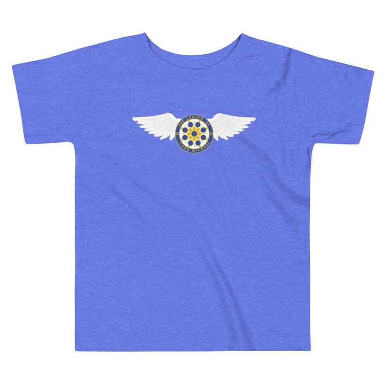 Archangel Michael Seal With Wings - Toddler Tee - StarSeed Gear