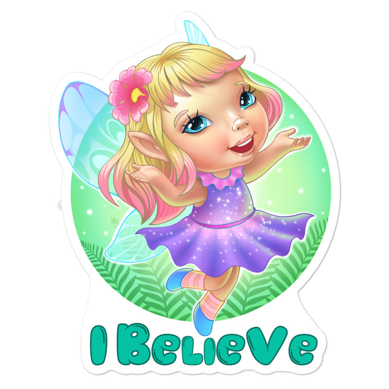 Fairies I Believe - 3x3 and 5.5x5.5inch Bubble-Free Stickers - StarSeed Gear