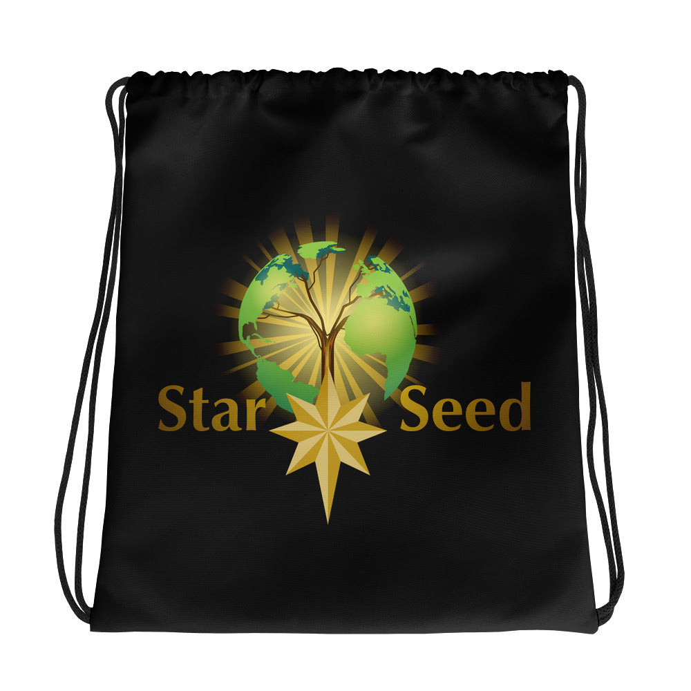 StarSeed Logo - Drawstring Bag - StarSeed Gear