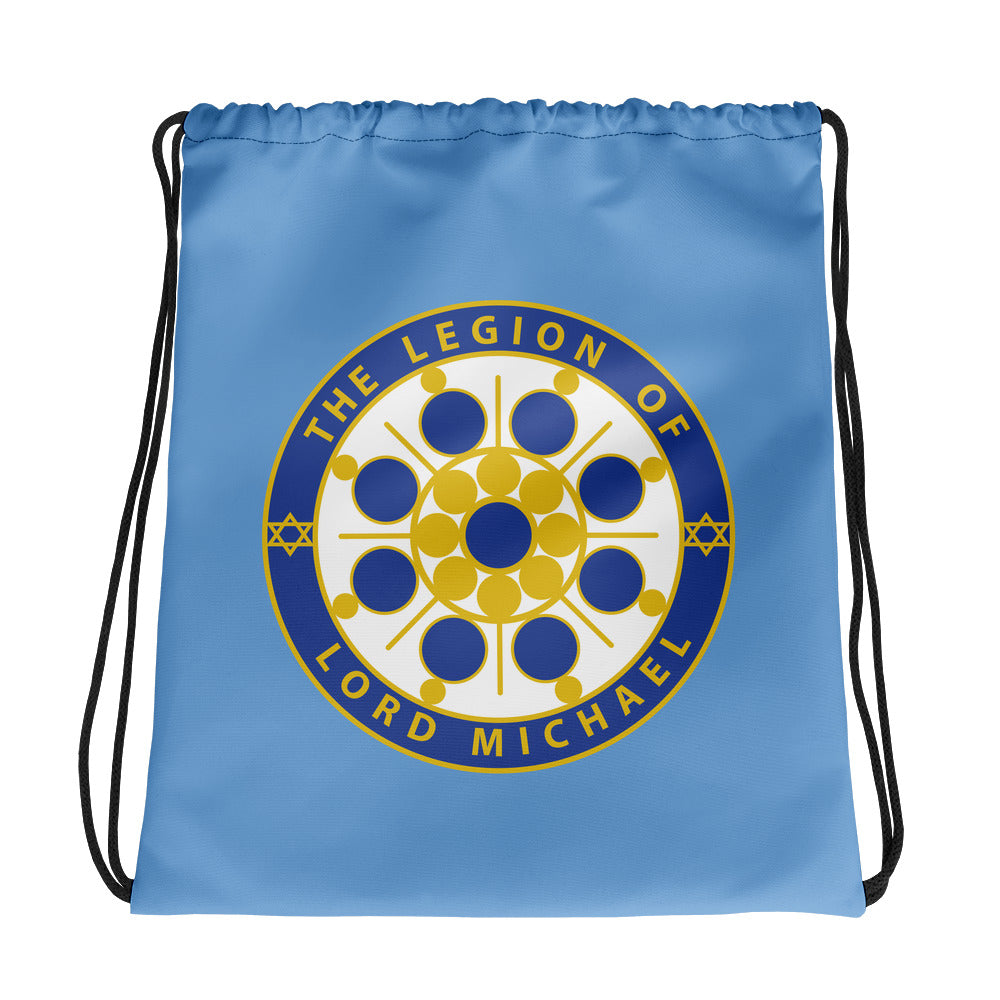 Archangel Michael Seal Light Blue - Drawstring Bag - StarSeed Gear