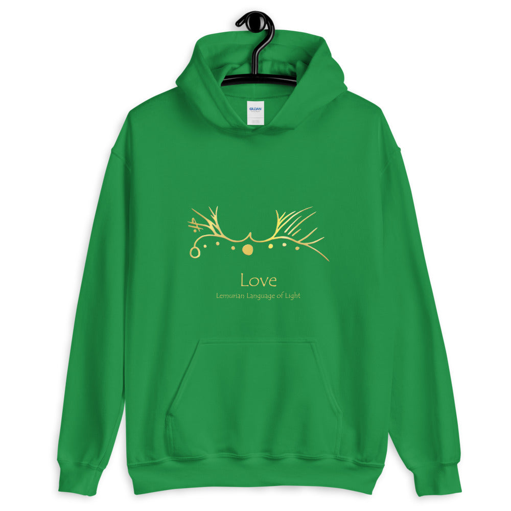 Lemurian Light Language Love - Women's Hoodie - StarSeed Gear