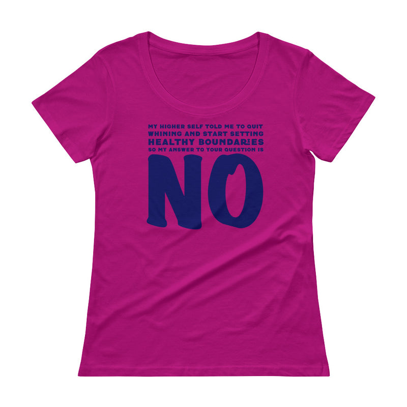 Healthy Boundaries - Women's Scoop Neck Tee - StarSeed Gear