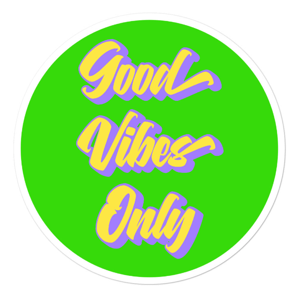 Good Vibes Only - 3x3 and 5.5x5.5inch Bubble-Free Sticker - StarSeed Gear