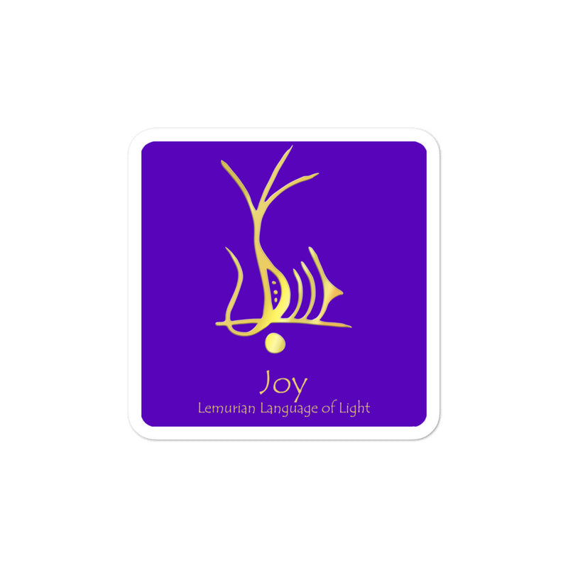 Lemurian Light Language Joy Purple - 3 X 3 inch Bubble-Free Sticker - StarSeed Gear
