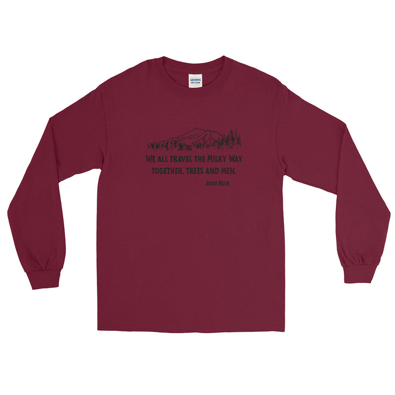 Traveling The Milky Way Together John Muir - Men's Classic Long Sleeve Tee - StarSeed Gear