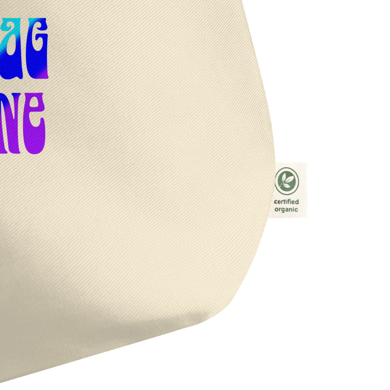 3D Is a Drag, 5D Is Divine - Large Organic Twill Tote Bag - StarSeed Gear