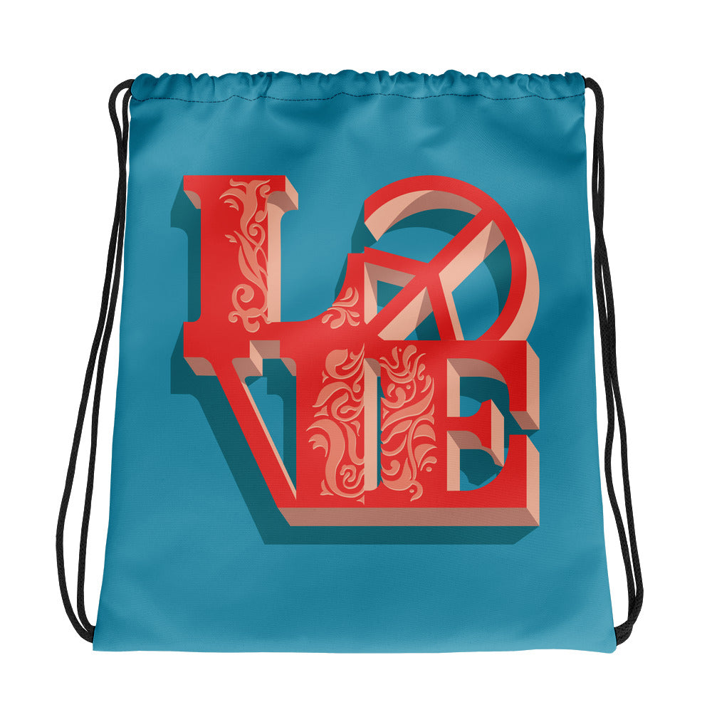 Love-Peace - Drawstring Bag - StarSeed Gear