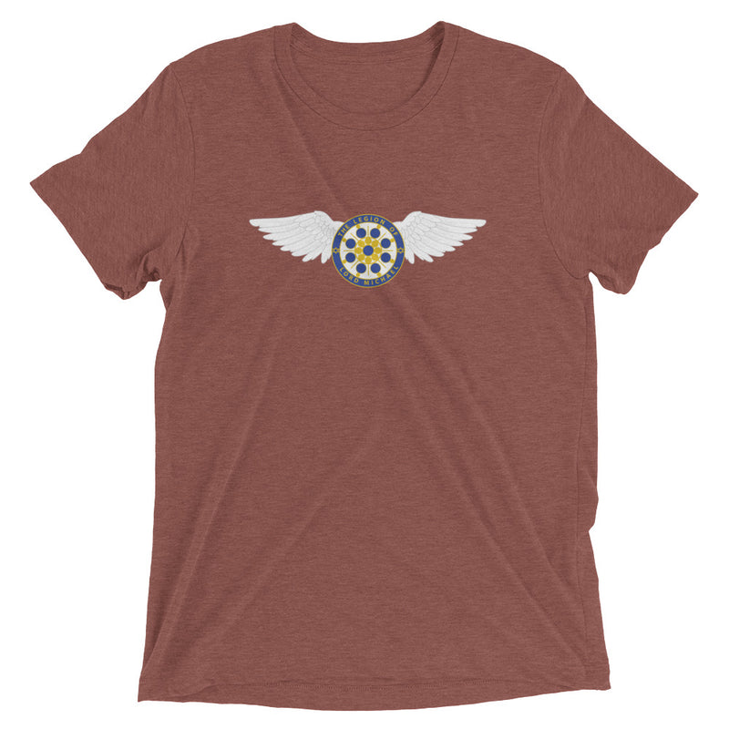 Archangel Michael Seal With Wings - Men's Super Soft Tee - StarSeed Gear