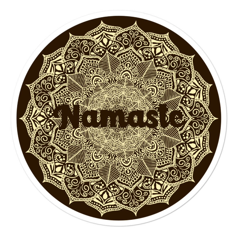 Namasté - 3x3 and 5.5x5.5inch Bubble-Free Sticker - StarSeed Gear