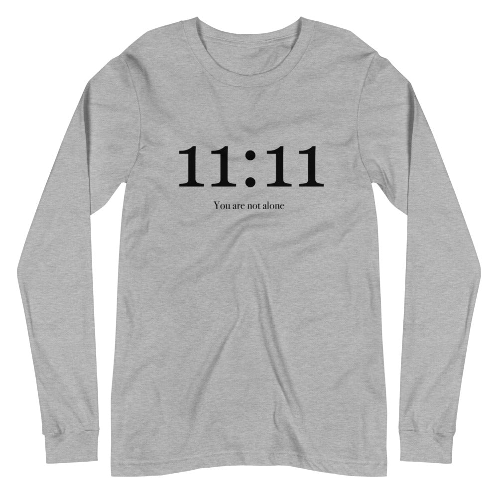 11:11 You Are Not Alone - Women's Soft Long Sleeve Tee - StarSeed Gear