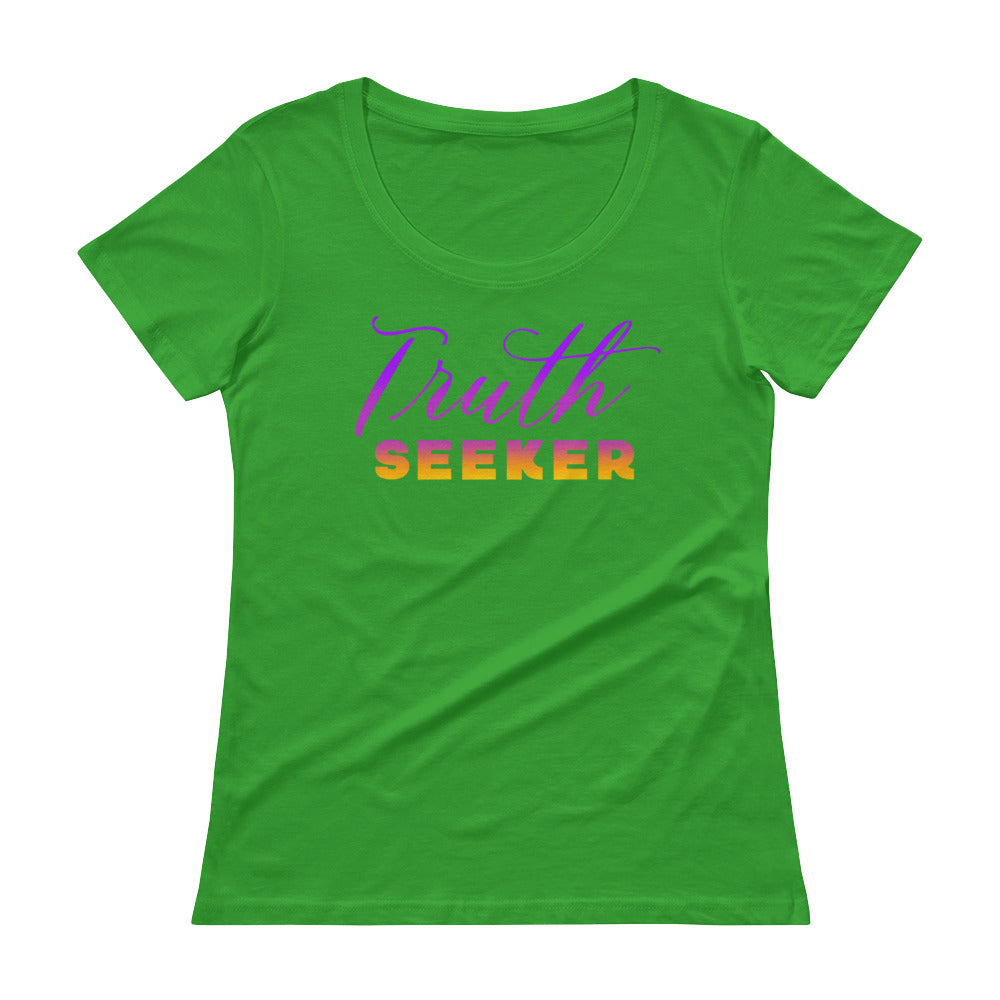 Truth Seeker - Women's Scoop Neck Tee - StarSeed Gear
