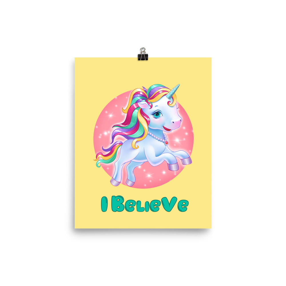 Unicorns I Believe - Enhanced Matte Poster 8x10 - StarSeed Gear