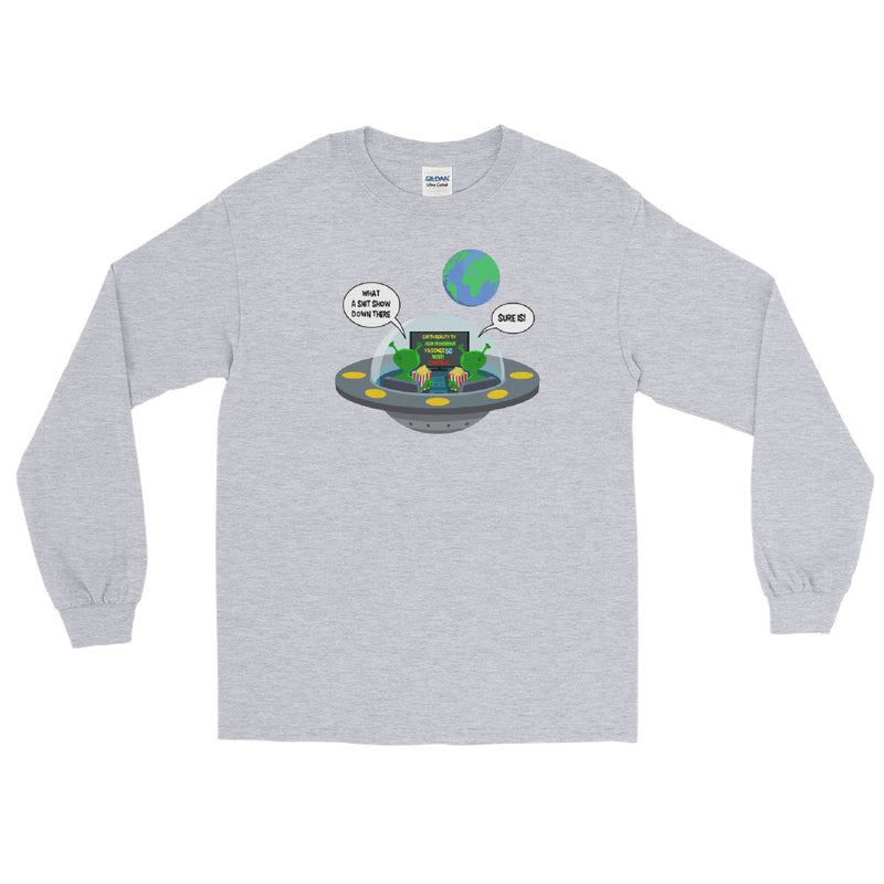 Earth Reality TV - Men's Classic Long Sleeve Tee - StarSeed Gear