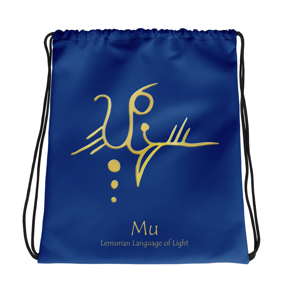Lemurian Light Language Mu - Drawstring Bag - StarSeed Gear