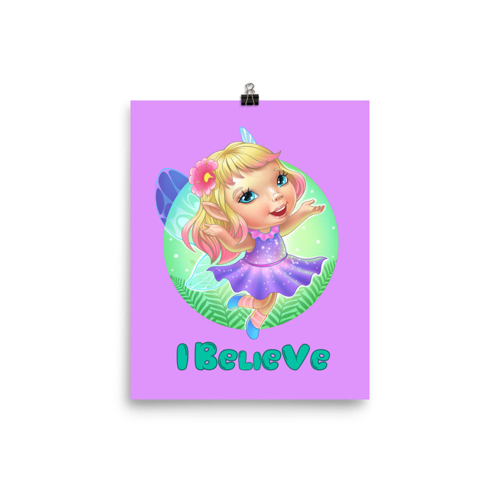 Fairies I Believe - Enhanced Matte Poster 8x10 - StarSeed Gear