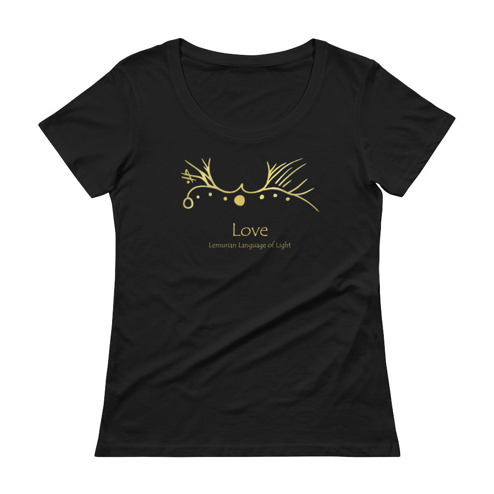 Lemurian Light Language Love - Women's Scoop Neck Tee - StarSeed Gear