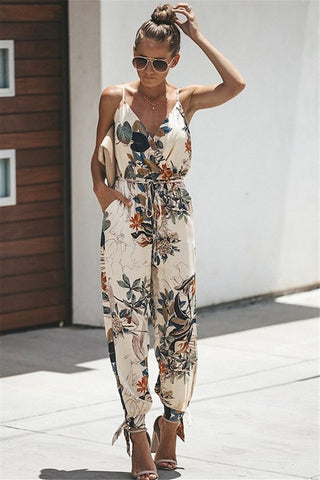 Lina™ - The Floral Sleeveless Jumpsuit!