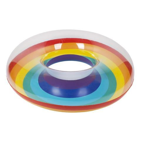 Inflatable Pool Float - Pool Ring Rainbow