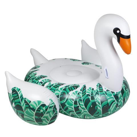 Inflatable Pool Float - Luxe Ride-On Float Swan Banana Palm