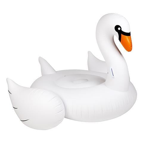 Inflatable Pool Float - Luxe Ride-On Float Swan