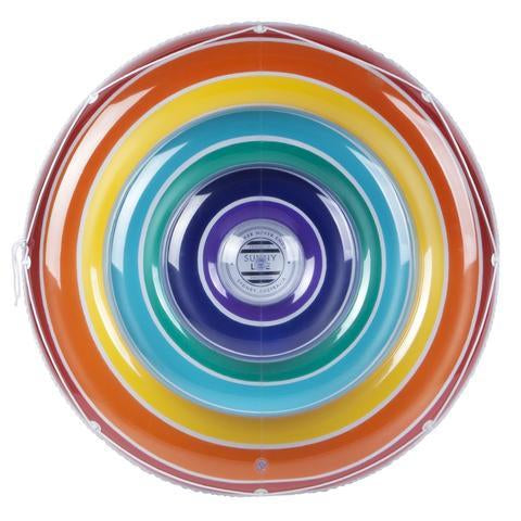 Inflatable Pool Float - Luxe Twin Round Float Rainbow