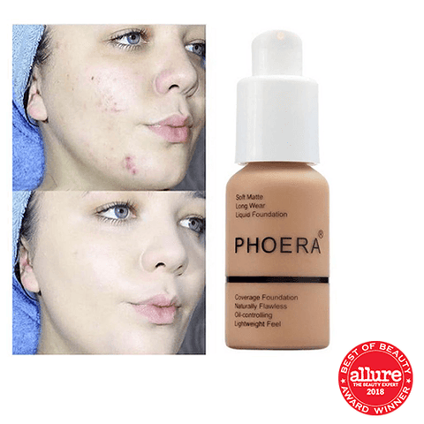 PHOERA® Foundation - Full Coverage - Soft Matte Long Wear Liquid Foundation