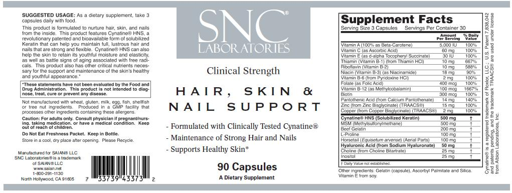 SNC Labs. Hair, Skin and Nail Support