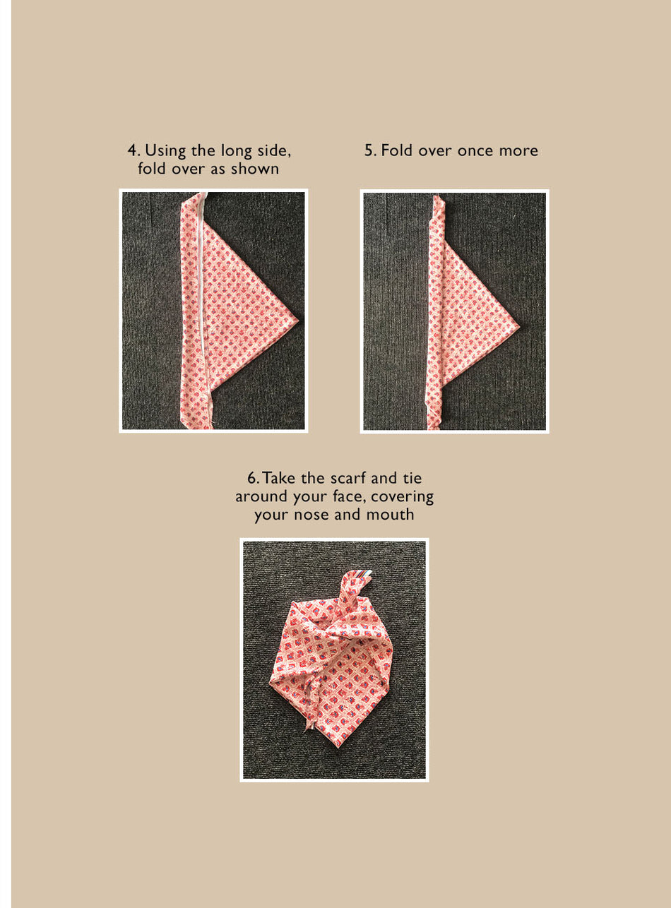 DIY Face Mask - Folder square scarf mask