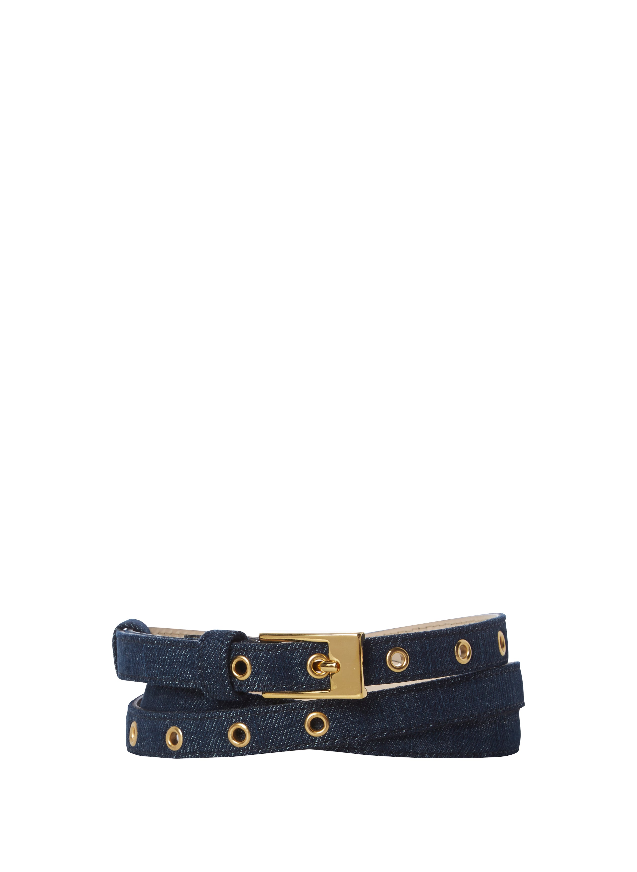 Maternity Skinny Belt - Gold Buckle