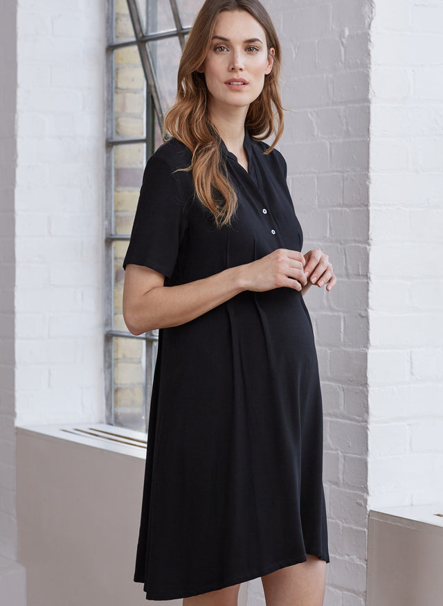 Carey Maternity Shirt Dress