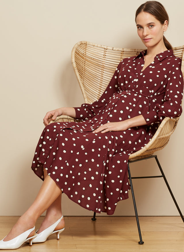 Alexina Maternity Shirt Dress
