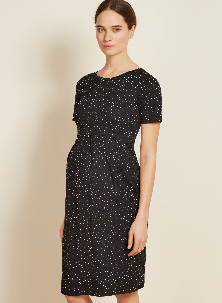 Amelie Maternity Pleat Dress