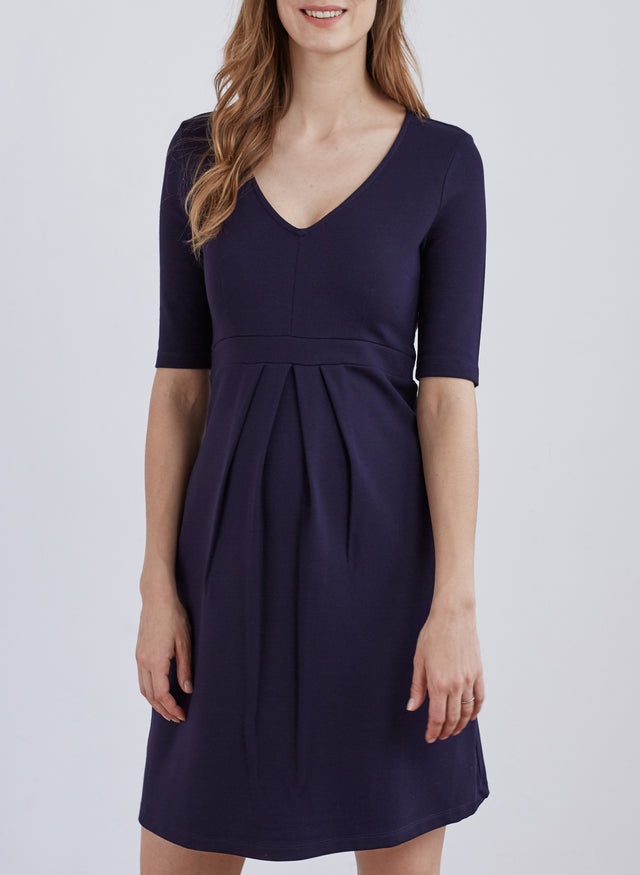 Farah Maternity Pleat Dress