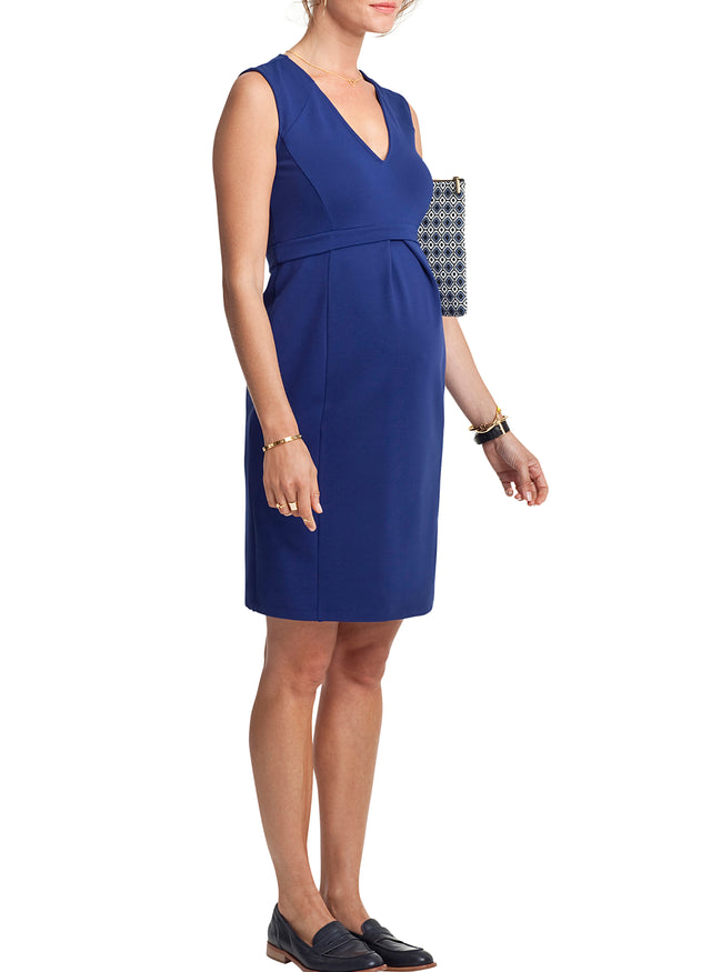 Fitzroy V-Neck Shift Maternity Dress
