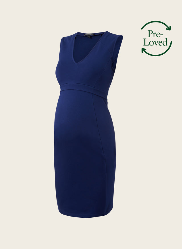 Pre-Loved Fitzroy V-Neck Shift Maternity Dress by Isabella Oliver