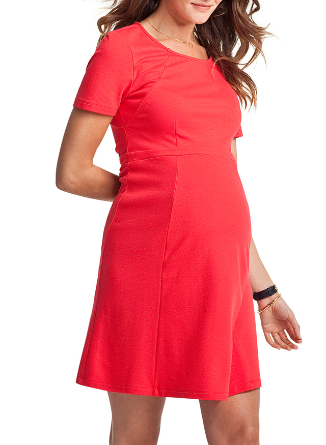 Rawlinson Boat Neck Maternity Dress