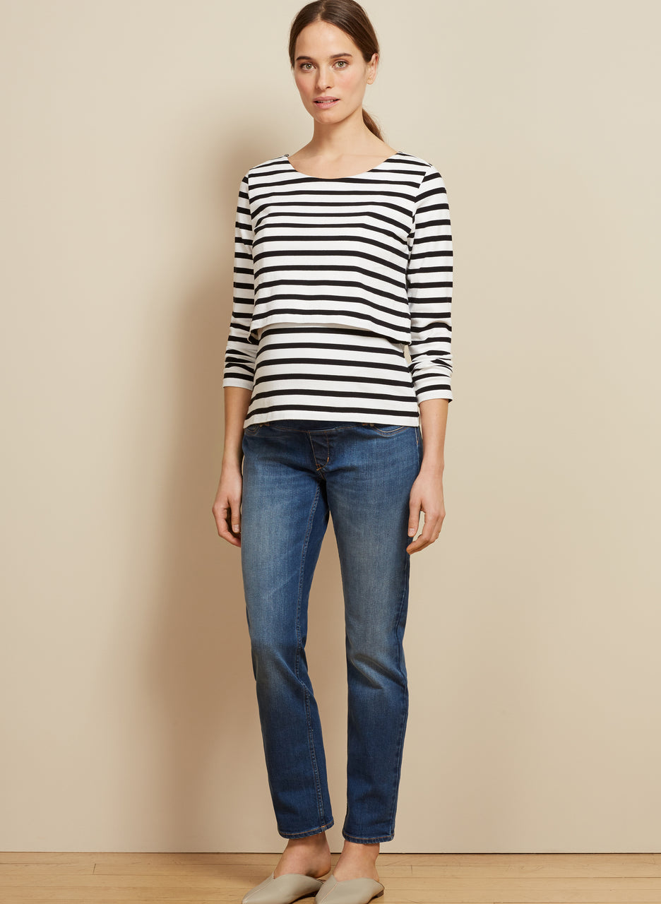 Stripe Nursing Top